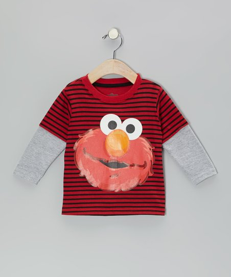 Red Stripe Elmo Layered Tee - Infant & Toddler