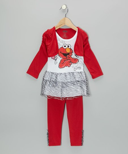 Red Elmo Tutu Tunic & Leggings - Infant & Toddler