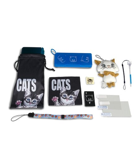 Black Cat Nintendo 3DS Accessory Pack