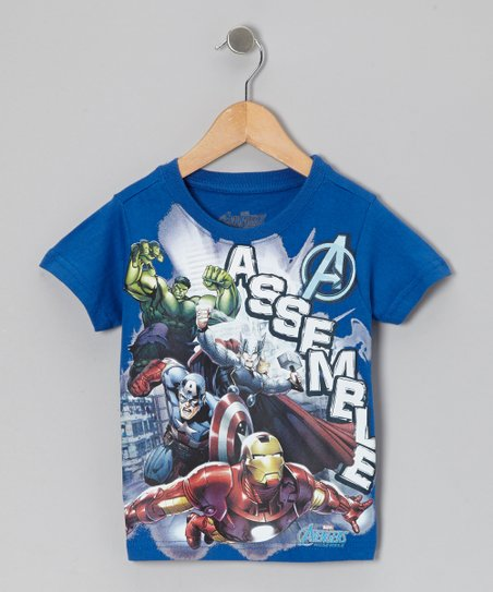 Blue 'Assemble' Avengers Tee - Toddler