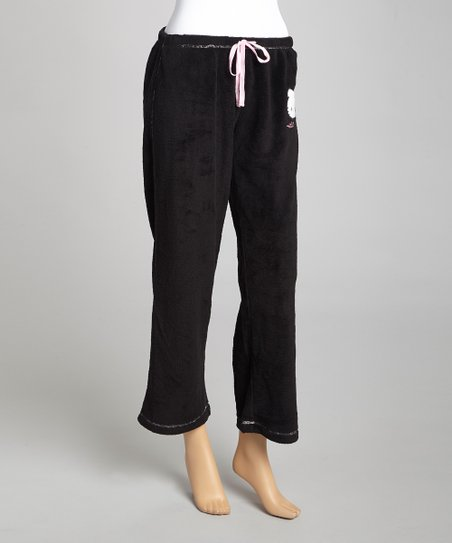 Black Hello Kitty Pajama Pants - Women