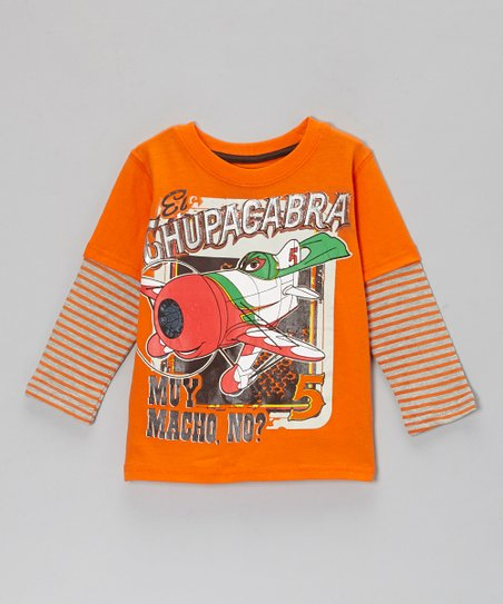 Orange 'El Chupacabra' Layered Tee - Toddler