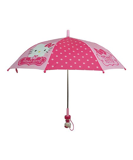 Hot Pink & Light Pink Polka Dot Hello Kitty Umbrella