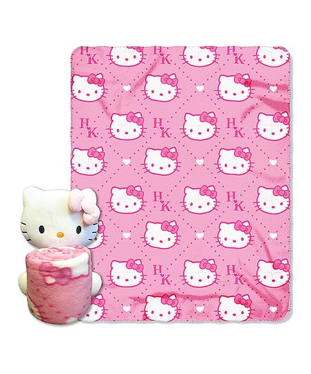 Hello Kitty Hugger & Throw Set