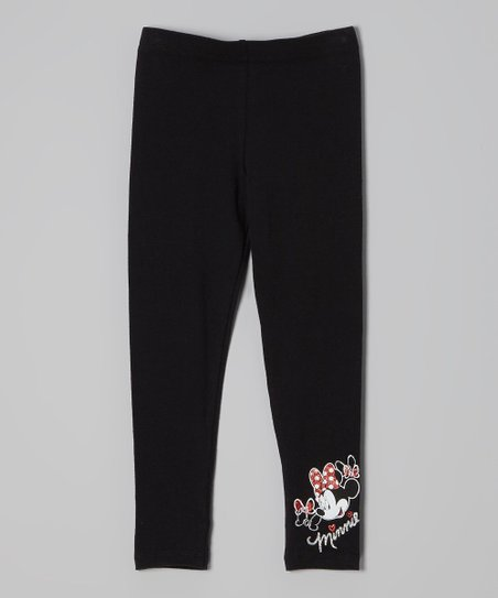 Black 'Minnie' Leggings - Girls