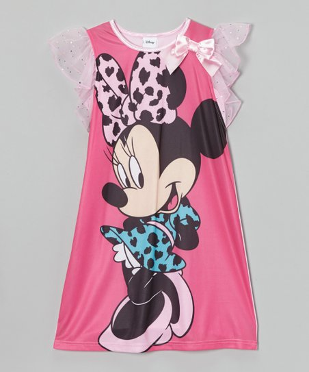 Pink Minnie Mouse Nightgown - Girls
