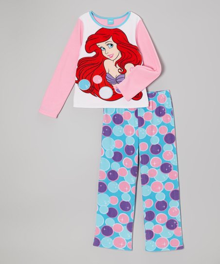 Pink & Aqua Bubbles Ariel Pajama Set - Girls