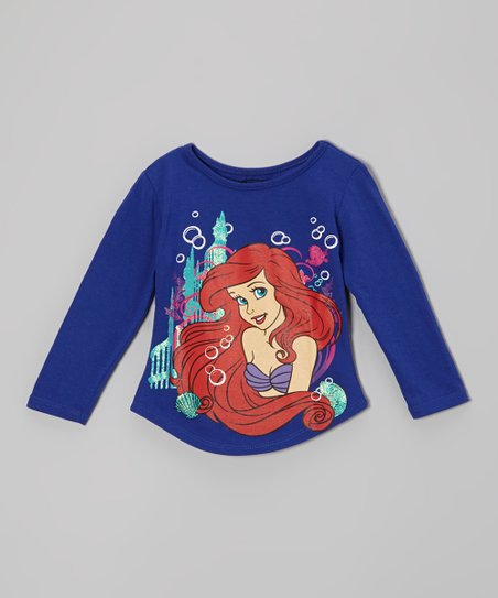 Navy Ariel Long-Sleeve Tee - Toddler