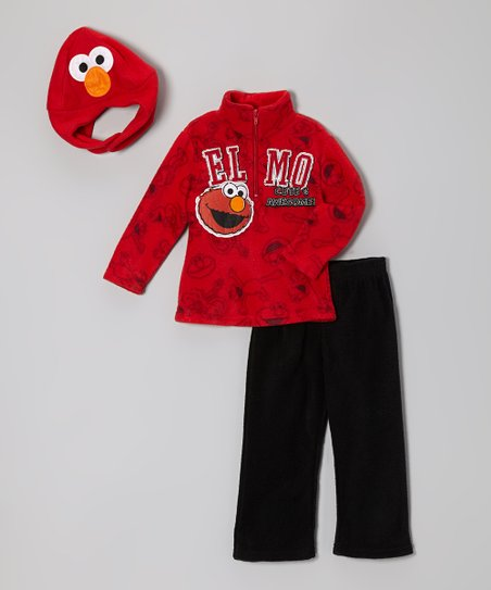 Red 'Elmo Cute & Awesome' Pullover Set - Infant & Toddler