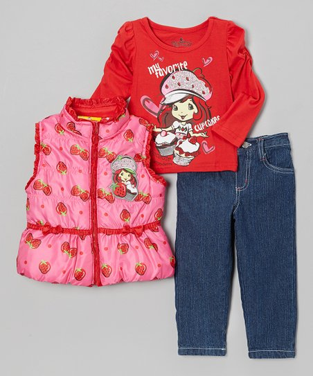 Pink Strawberry Shortcake Pants Set - Infant, Toddler & Girls
