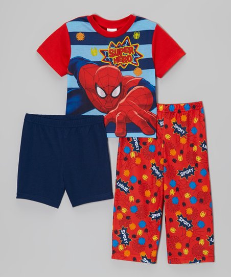 Red & Blue Spider-Man 'Superhero' Pajama Set - Toddler