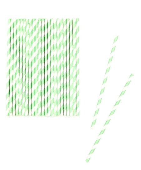 Aquamarine Stripe Biodegradable Straw – Set of 50