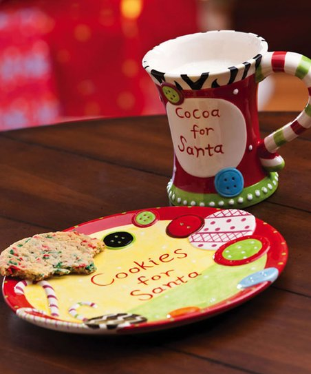 Cookies & Cocoa for Santa Mug & Plate