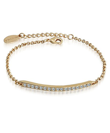 Crystal & Gold Bar Bracelet Made With SWAROVSKI ELEMENTS