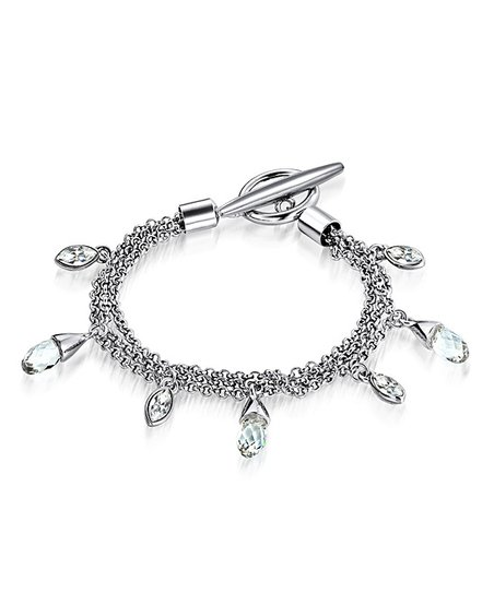 Silver Crystal Charm Bracelet Made With SWAROVSKI ELEMENTS
