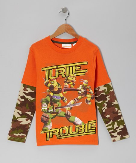 Camouflage Teenage Mutant Ninja Turtles Hooded Layered Tee - Boys