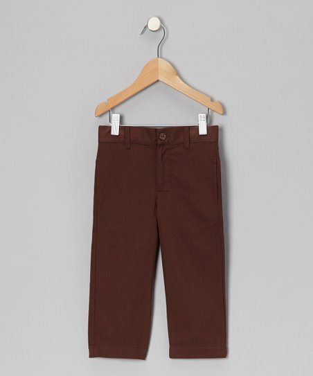 Brown Twill Pants - Toddler & Girls