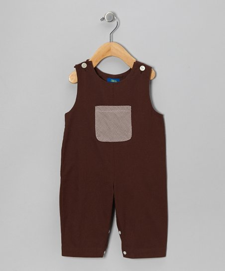 Brown Twill Overalls - Infant & Toddler