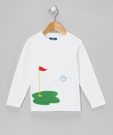 White Golf Tee - Boys