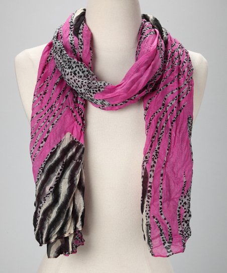 Magenta Safari Scarf