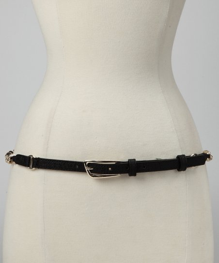 Black Chain Overlay Belt