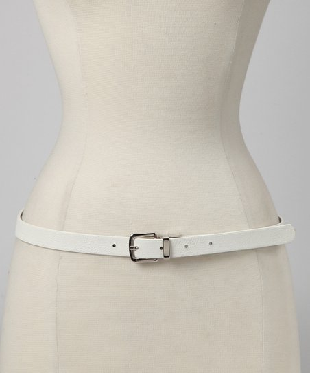 Silver & White Twist Reversible Belt