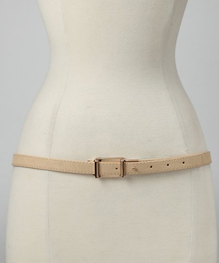 Cream Double Loop Belt