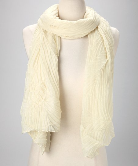 Cream Crinkle Scarf