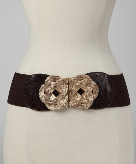 Brown Metal Knot Stretch Belt