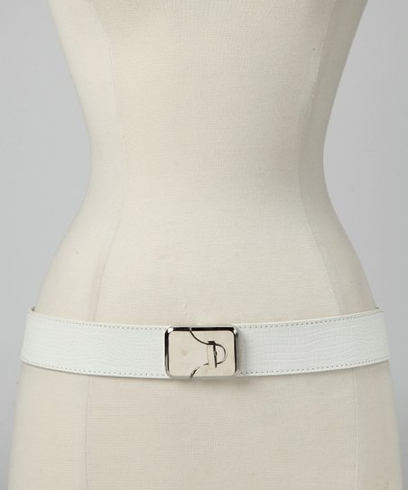 White Snake Stretch Belt