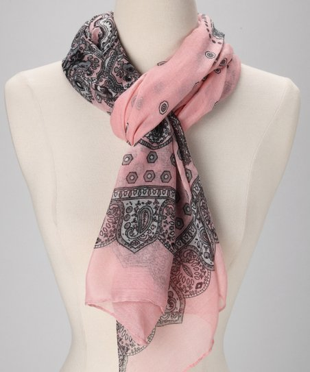 Blush Paisley Bandanna Scarf
