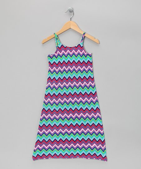 Purple Zigzag Maxi Dress - Girls