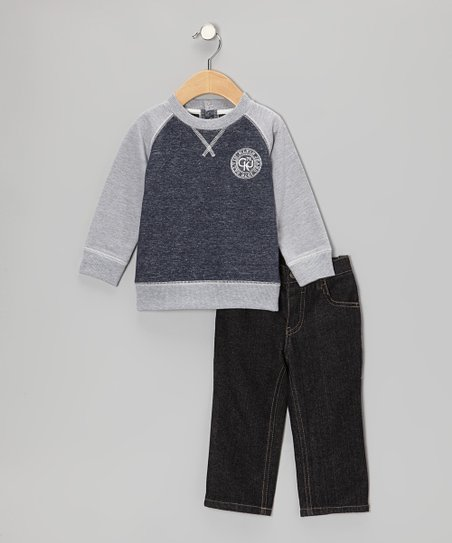 Heather Gray Crewneck Sweatshirt & Jeans - Infant