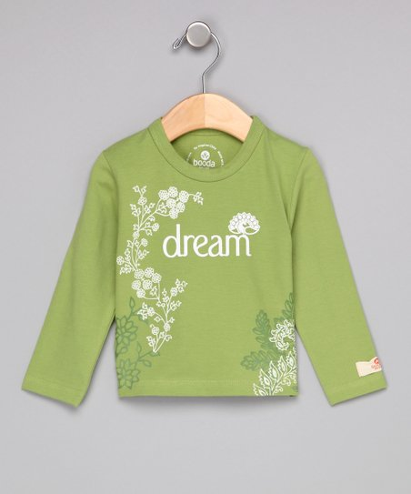 Leaf Green 'Dream' Long-Sleeve Tee - Infant