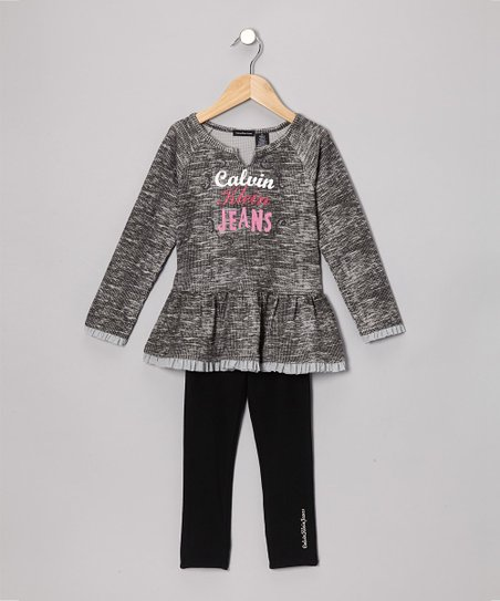 Heather Gray Thermal Tunic & Leggings - Infant & Toddler