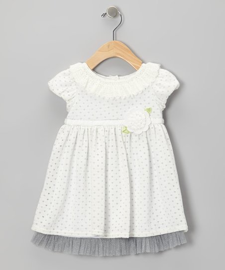 Ivory Flower Knit Dress - Infant
