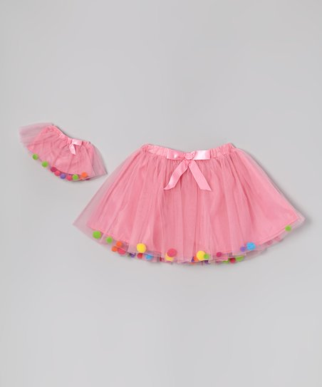Pink Pom-Pom Tutu & Doll Tutu - Girls