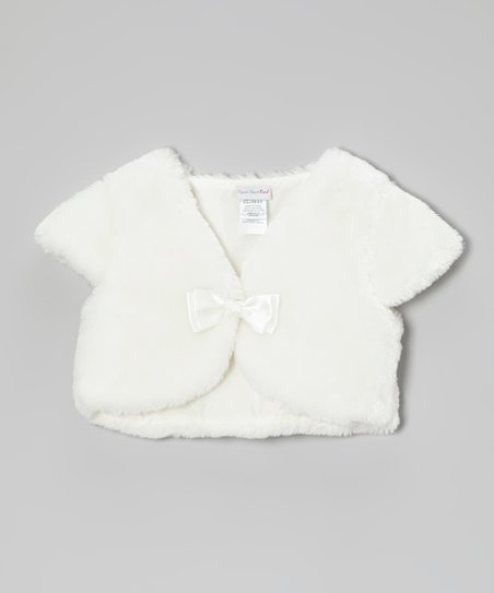 Ivory Faux Fur Shrug - Toddler & Girls