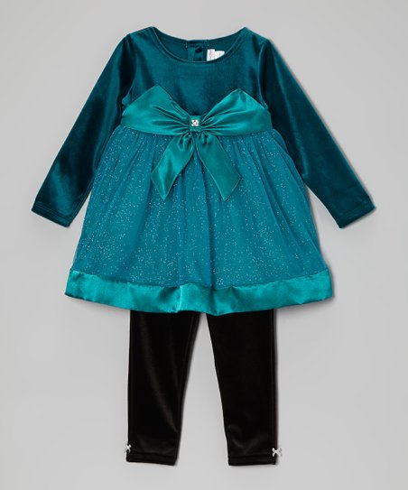 Teal Shimmer Tunic & Leggings - Infant