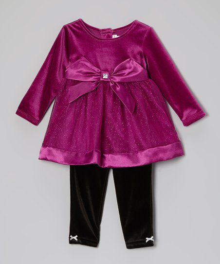 Berry Shimmer Tunic & Leggings - Toddler & Girls