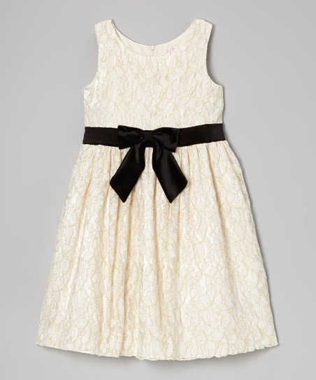 Ivory Lace Occasion Dress - Girls' Plus