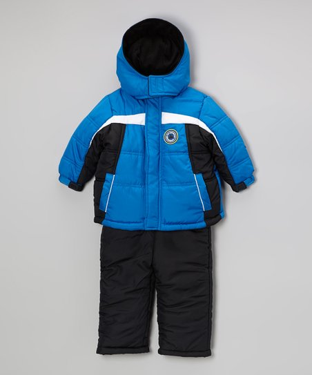 Royal Push Play Puffer Coat & Bib Pants - Boys