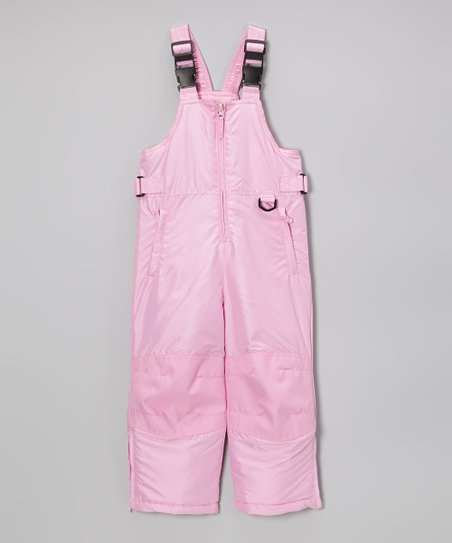 Pink Classic Bib Pants - Toddler & Kids