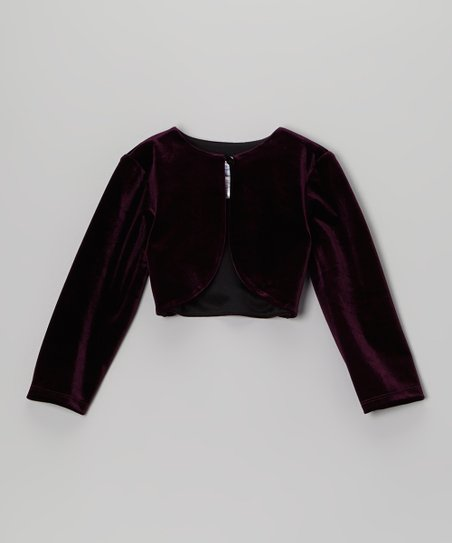 Plum Velvet Bolero - Toddler & Girls
