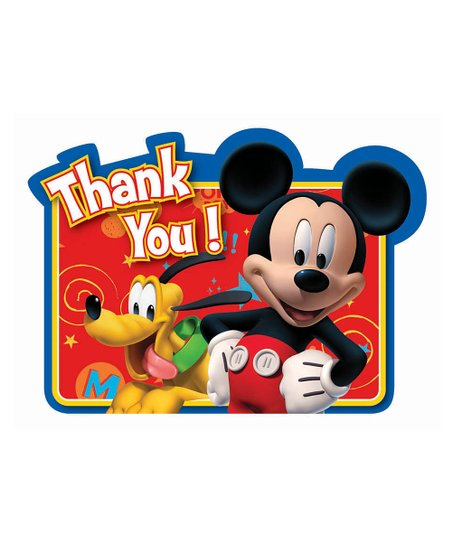 Mickey Thank You Card - Set of Eight