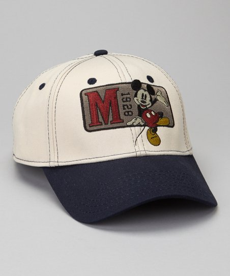 Navy '1929' Mickey Mouse Baseball Cap - Boys
