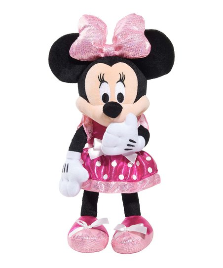Tickled Pink Minnie Bowtique Plush Toy