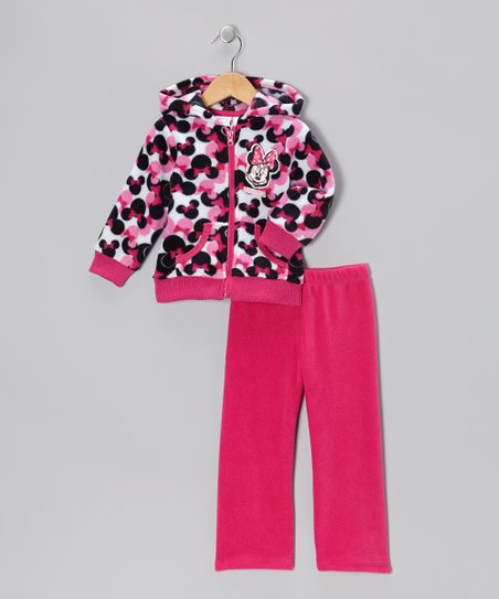 Pink Minnie Zip-Up Hoodie & Pants
