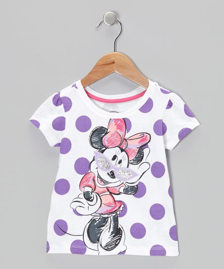 Purple Polka Dot Minnie Tee - Toddler & Girls