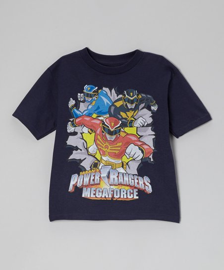 Navy Power Rangers Mega Force Tee - Kids